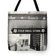 Star Drug Store Marquee Tote Bag by Scott Pellegrin