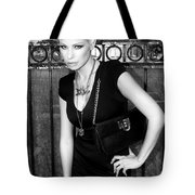 STAR GATE SEDUCTION BW Palm Springs Tote Bag by William Dey