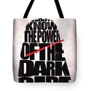 Star Wars Inspired Darth Vader Artwork Tote Bag by Ayse Deniz