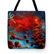 Starberry Nova Alien Excape Tote Bag by Murphy Elliott