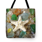 Starfish Fine Art Photography Seaglass Coastal Beach Tote Bag by Baslee Troutman