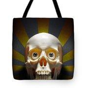 Staring Skull Tote Bag by Carlos Caetano