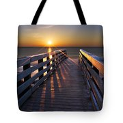 Stars On The Boardwalk Tote Bag by Debra and Dave Vanderlaan