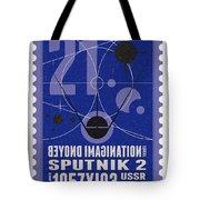 Starschips 21- Poststamp - Sputnik 2 Tote Bag by Chungkong Art