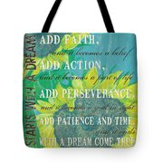 Starts with a Dream Tote Bag by Debbie DeWitt