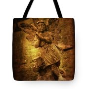 Statue Of Angel Tote Bag by Amanda And Christopher Elwell