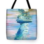 Statue Of Liberty - The Torch Tote Bag by Fabrizio Cassetta