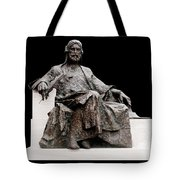 Statue Of Nizami Ganjavi  Tote Bag by Fabrizio Troiani