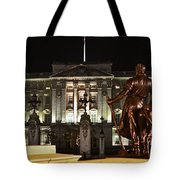 Statues View Of Buckingham Palace Tote Bag by Terri  Waters
