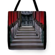 Steam Engine Pushing Tote Bag by Trever Miller