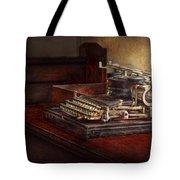 Steampunk - A Crusty Old Typewriter Tote Bag by Mike Savad