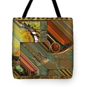 Steampunk Abstract Tote Bag by Liane Wright