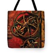 Steampunk - Clockwork Tote Bag by Mike Savad