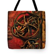 Steampunk - Clockwork Tote Bag by Mike Savad