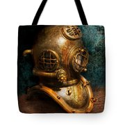Steampunk - Diving - The Diving Helmet Tote Bag by Mike Savad