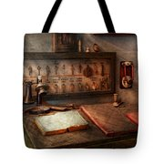 Steampunk - Electrical - My 9 To 5 Job  Tote Bag by Mike Savad