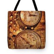 SteamPunk - Gauges Tote Bag by Mike Savad