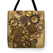 Steampunk Gears Tote Bag by Diane Diederich