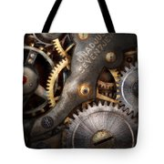 Steampunk - Gears - Horology Tote Bag by Mike Savad