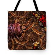 Steampunk - Insect - Itsy Bitsy Spiders Tote Bag by Mike Savad