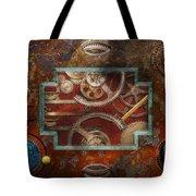 Steampunk - Pandora's box Tote Bag by Mike Savad