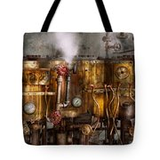 Steampunk - Plumbing - Distilation apparatus  Tote Bag by Mike Savad