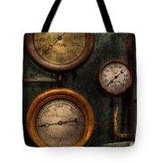 Steampunk - Plumbing - Gauging Success Tote Bag by Mike Savad