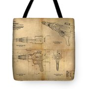 Steampunk Raygun Tote Bag by James Christopher Hill