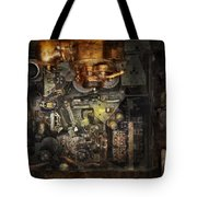 Steampunk - The Turret Computer  Tote Bag by Mike Savad