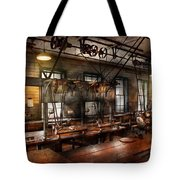 Steampunk - The Workshop Tote Bag by Mike Savad