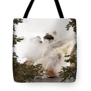 Steamy Bison Tote Bag by Sue Smith
