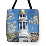 Steeple With Clock Tote Bag by Allan Morrison