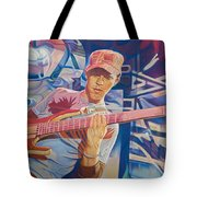 Stefan Lessard And 2006 Lights Tote Bag by Joshua Morton