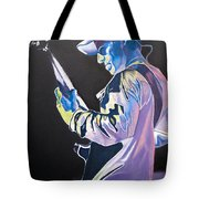 Stefan Lessard Colorful Full Band Series Tote Bag by Joshua Morton