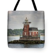 Stepping Stones Lighthouse I Tote Bag by Clarence Holmes