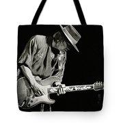 Stevie Ray Vaughan 1984 Tote Bag by Chuck Spang