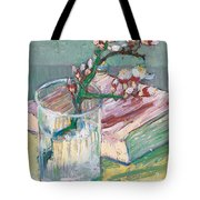 Still Life    A Flowering Almond Branch Tote Bag by Vincent Van Gogh