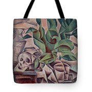 Still Life Showing Skull Tote Bag by Kubista Bohumil