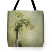 Still Life With Dill And A Cucumber Tote Bag by Priska Wettstein