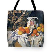 Still life with drapery Tote Bag by Paul Cezanne