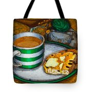 Still Life With Green Touring Bike Tote Bag by Mark Howard Jones