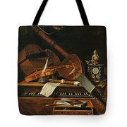 Still Life With Musical Instruments Tote Bag by Pieter Gerritsz van Roestraten
