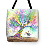 Still More Rainbow Tree Dreams Tote Bag by Nick Gustafson
