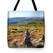 Stone Cairns Tote Bag by Carlos Caetano
