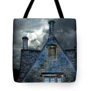 Stone Cottage In A Storm Tote Bag by Jill Battaglia