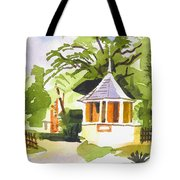 Stone Gazebo At The Maples Tote Bag by Kip DeVore
