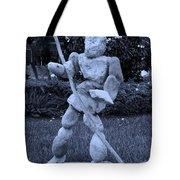 Stoneman In Cyan Tote Bag by Rob Hans