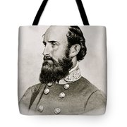 Stonewall Jackson Confederate General Portrait Tote Bag by Anonymous
