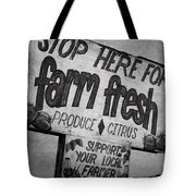 Stop Here Tote Bag by Joan Carroll