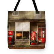 Store Front - Waterford Va - Waterford Market  Tote Bag by Mike Savad